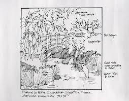 Japanese Garden And Koi Pond Autum Csp6461862 Vintage 1950s Plans