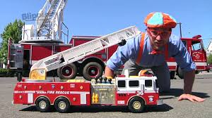 100 Fire Trucks Kids Blippi For Children Engines For Kids And Truck