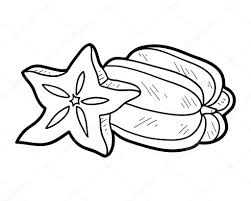 Amazing Printable Star Fruit Coloring Pages For Kids
