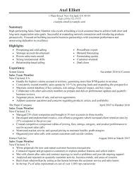Sample Of Retail Resume Consultant Example Free For Sales Associate