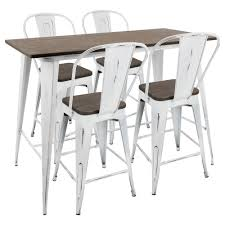 Lumisource Oregon High Back 5-Piece Vintage White And Espresso ... Diy Extendable Retro Black Base Custom Beautiful For Frame Room Ding Metal Ding Room Tables Vintage Table A Table Vintage Industrial Fniture Shop Simple Living Raleigh Set Free Shipping Today Chic Gray With Rustic And Metal Chairs Hgtv Topthe Village Of Fniturevintage Chairanti Outdoor Antiquestyle Patio Amazoncom Lavita 3 Piece Bar 415 Pub With 2 Tangkula 5 Wood And Combined Style Bn Free Delivery Chair Tables 1950s Formica Kitchen W 4 50 Savings