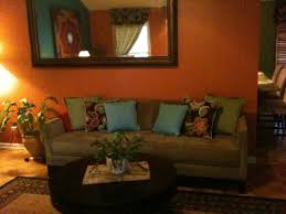 Teal Living Room Decor by Living Room Decor With Orange And Brown Decorating Ideas Loversiq
