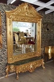 casa padrino barock spiegelkonsole gold wohnzimmer