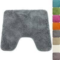 proheim badematte 45 x 50 cm in grau rutschfester wc vorleger mit ausschnitt premium badteppich 1200 g m weich kuschelig hochflor duschvorleger