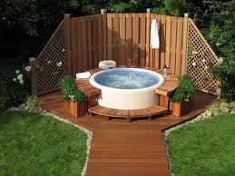Creative Hot Tubs In Landscape Ideas - Google Search | Hot Tubs In ... Hot Tub On Deck Ideas Best Uerground And L Shaped Support Backyard Design Privacy Deck Pergola Now I Just Need Someone To Bulid It For Me 63 Secrets Of Pro Installers Designers How Install A Howtos Diy Excellent With On Bedroom Decks With Tubs The Outstanding Home Homesfeed Hot Tub Pool Patios Pinterest 25 Small Pool Ideas Pools Bathroom Back Yard Wooden Curved Bench