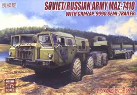 Soviet/Russian Army MAZ-7410 W/ChMZAP-9990 Semi-Trailer (Tractor ... Very Htf Revell Ford Aeromax 106 Cventional Model Truck Kit 124 Nib Amt Usa 125 Scale Fruehauf Flatbed Trailer Plastic 002 Trumpeter 135 Df21 Ballistic Missile Launcher Scaled Marmon Stars And Stripes American Sdv Plastic Model 187 H0 Praga With V3s Pad S Rmz Scania Container 164 Pla End 21120 1106 Am 1200scale 6cm Long Architectural Model Plastic Miniature Aoshima 132 Shines Deco Truck Led New Goods Revellkit 07524 Scania 143m Truck With Trailer Amazoncom Snap Tite Freightliner Aurora Kits Wwwtopsimagescom Big Rig White Classic Bonnet Semi Tractor