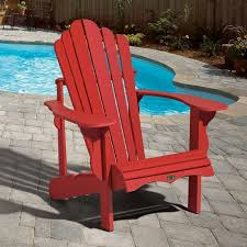 Red Patio Furniture Canada by Classic Adirondack Chair