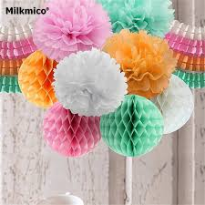 DIY Party Decoration Set String GarlandsBouquetHoneycomb BallTissue Paper Pom