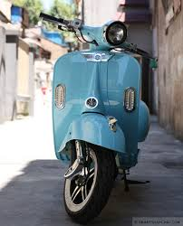 Shanghais Full Of Vespa Knock Offs Electric Scooters That Are Styled Up To Look Like The Classic Italian Brand This Is Latest And Its