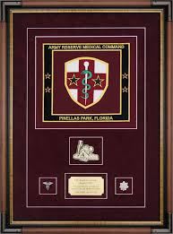 Flag Display Case Example Army Reserve Medical Command
