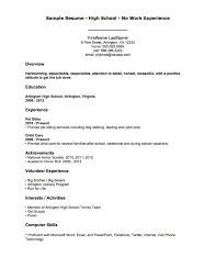 Resume Objective Examples No Worknce Templates Professional ...