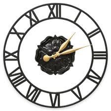 buy black decorative wall clocks from bed bath beyond