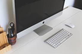 apple bureau images gratuites ordinateur mac table clavier la technologie