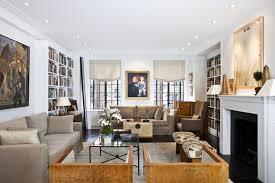 Living room NYC Upper West Side pre war coop luxury renovation