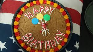 Cinnamon Sugar Cookie Cake from Mrs Fields Happy birthday to me