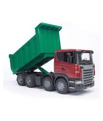 100 Bruder Logging Truck 3550 Scania RSeries Dump Tipper Toy RedGreen Buy