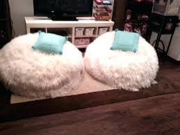Fur Bean Bag Chair Teenage Chairs Large Size Of White Design Idea