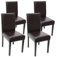 4x esszimmerstuhl stuhl lehnstuhl littau leder braun
