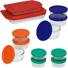 Christmas Tree Storage Container Walmart by Pyrex Bake And Store 24 Piece Set Walmart Com