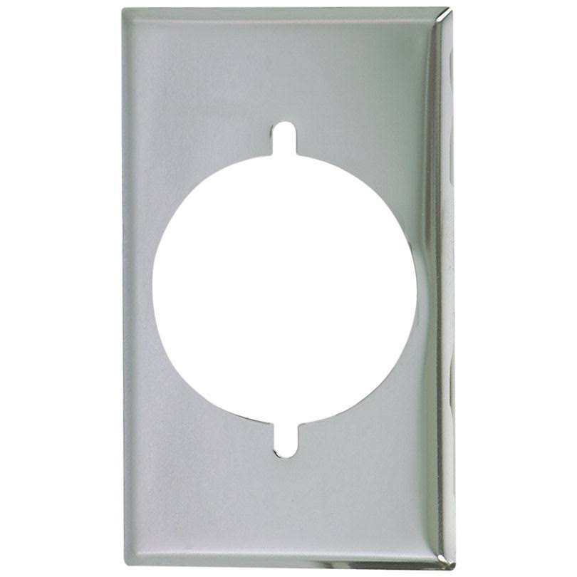 Cooper Wiring Devices Receptacle - One Gang, Chrome Plate