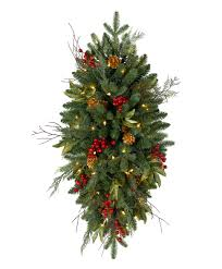 Pre Lit Christmas Tree Replacement Bulbs by Classic Holiday Artificial Christmas Teardrop Tree Classics