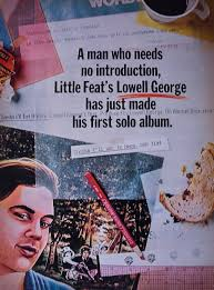 Little Feat Fat Man In The Bathtub by Ad For Lowell George U0027s 1979 Solo Album Thanks I U0027ll Eat It Here