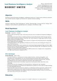 Business Analytics Resume Intelligence Analyst Example Word Document