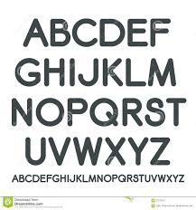 Vector Latin Alphabet Stock Illustration Of Graphic
