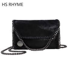 hs rhyme women messenger bags pu fashion portable evening chains