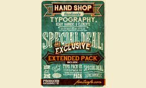 Free Retro And Vintage Fonts Hand Shop Typography