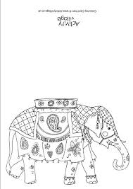 Indian Elephant Colouring Card