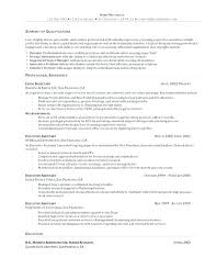 Resume Profiles Sample Profile Statements Career Objective Accountant Examples For Customer Service