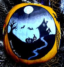 Maleficent Pumpkin Designs by Lewis Barrett Lehrman Encounter On Cemetery Hill Art Lewis