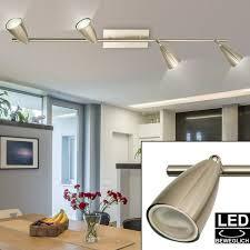 etc shop deckenleuchte led 12 watt decken leuchte strahler beweglich wohnzimmer beleuchtung le nickel matt kaufen otto