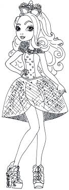 Free Printable Ever After High Coloring Pages Apple White Mirror For