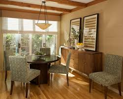Sideboards And Buffets Dining Room Contemporary With Artwork Baseboards Bowl Chandelier