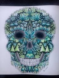 Johanna Basford Enchanted Forest Skull Coloring BookPrismacolor