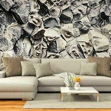 vlies fototapete tapete wohnzimmer steine wandbilder grau