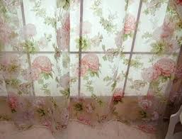 Sheer Voile Curtains Uk by 2 X Custom Made French Country Cottage Rose Floral Sheer Voile