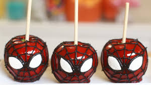 Nerdy Nummies Halloween Challenges by Spiderman Candy Apples Nerdy Nummies Youtube