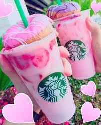 Pink Drink Starbucks Donut Strawberry Pinterest Kristinabow16