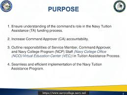 Navy College Program NCP Tuition Assistance mand Approver