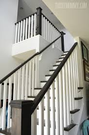 Ebony Stain And White Craftsman Stair Railings | I Love House ... Java Gel Stain Banister Diy Projects Pinterest Gel Remodelaholic Stair Makeover Using How To A Angies List My Humongous Stairs Fail Kiss My Make Wood Stairs Treads For Cheap Simply Swider Stair Railing Cobalts House Staircase Reveal Cut The Craft Updating A Painted With An Ugly Oak Dark All Things Thrifty 30 Staing Filling Holes And