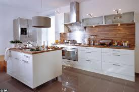 credence cuisine noir et blanc beautiful cuisine blanche et bois photos design trends 2017