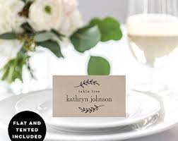 Wedding Place Cards Template Seating Card