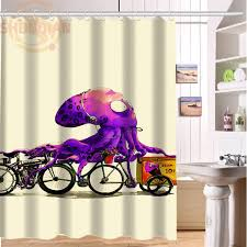 New Vintage Octopus Shower Curtain Classical Design Bathroom