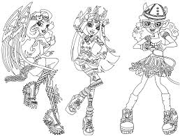 Coloring Pages Of Monster High Dolls Best