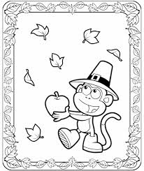 These Easy To Color Dora Thanksgiving Pages Are Perfect For Little Ones Print One Page Or The Entire Coloring Book 5 Here