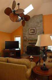 Rattan Ceiling Fans With Lights by Wicker Ceiling Fans Porch Beach With Brick Floor Customized
