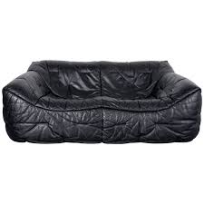 100 Roche Bobois For Sale Black Leather Sofa By Red Nudlco
